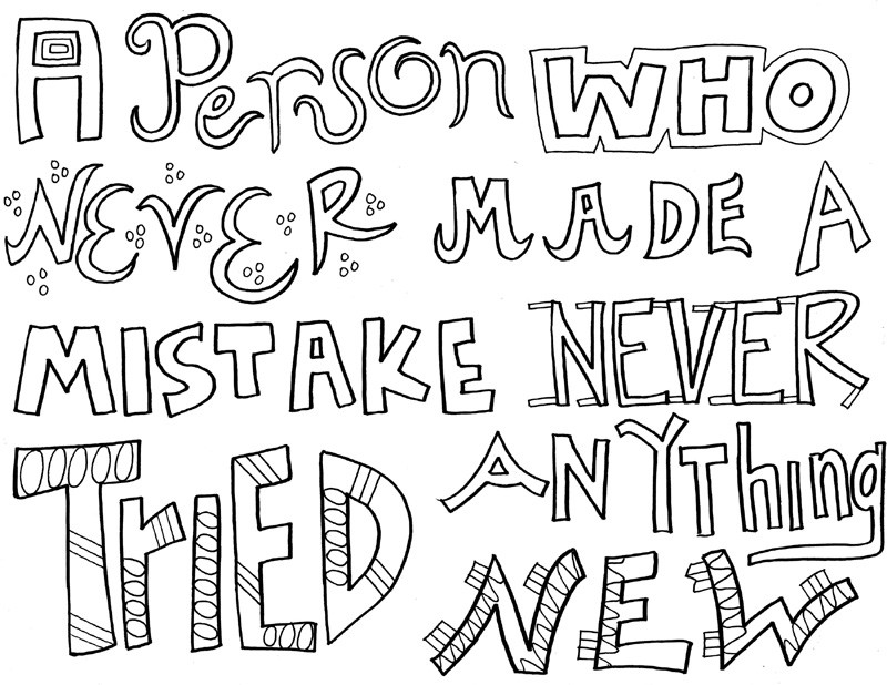 Quote Coloring Pages To Print  Inspirational Quotes Coloring Pages For Adults
