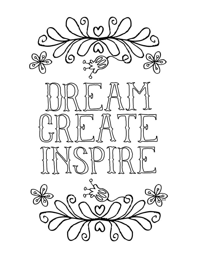Quote Coloring Pages To Print  Sayings and Quotes