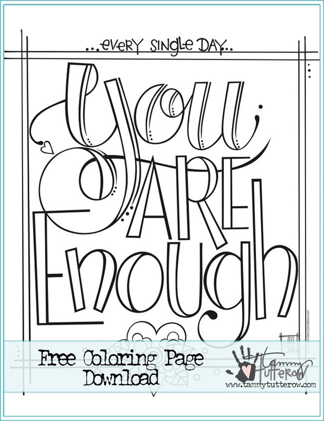 Quote Coloring Pages To Print  12 Inspiring Quote Coloring Pages for Adults–Free Printables