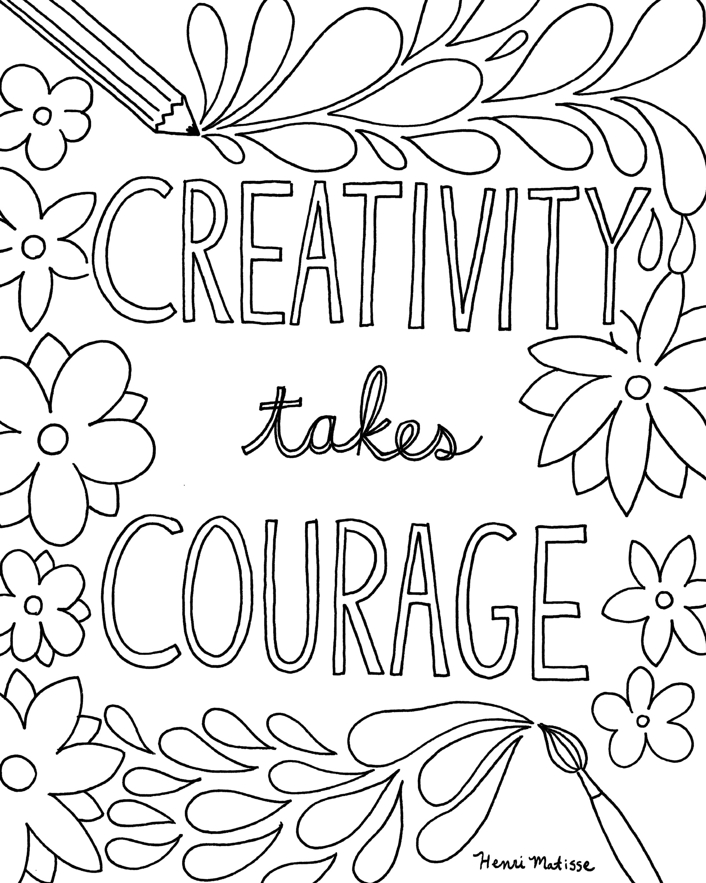 Quote Coloring Pages To Print  Free Printable Quote Coloring Pages for Grown Ups
