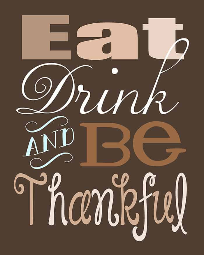 Quote On Thanksgiving  Thanksgiving Quote Free Printable
