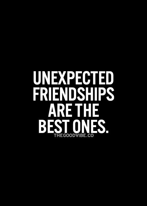 Quotes About Friendship  Best 25 Unexpected friendship quotes ideas on Pinterest