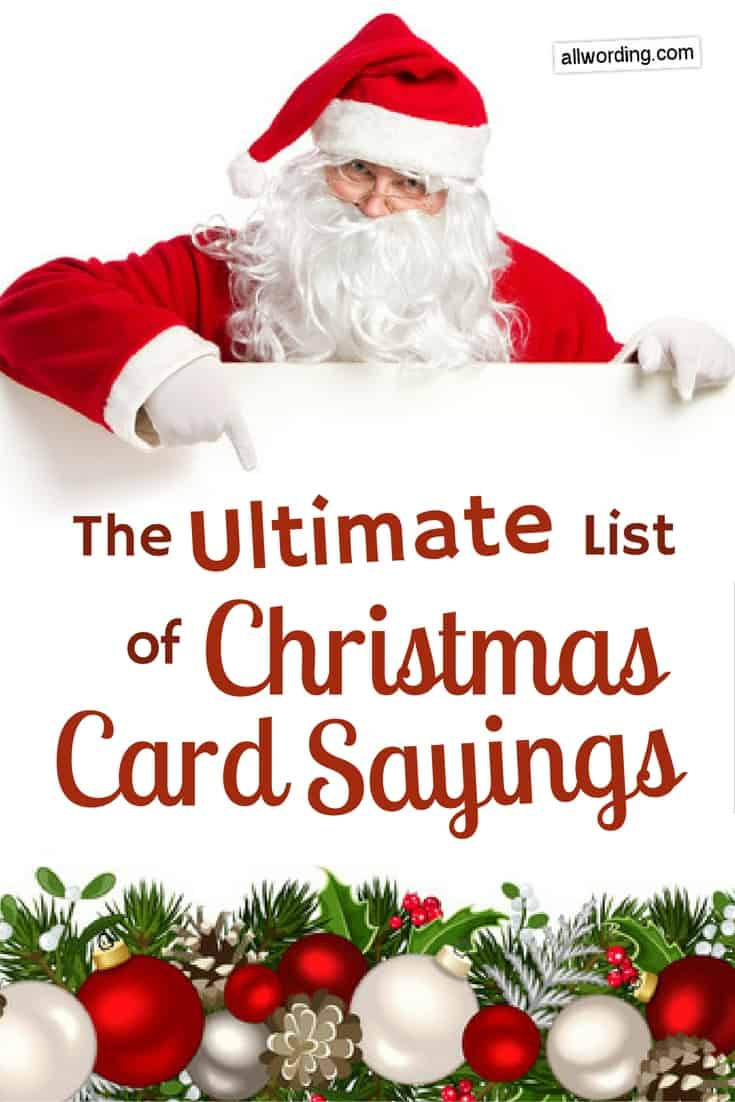 Quotes For Christmas Card  The Ultimate List of Christmas Card Sayings AllWording