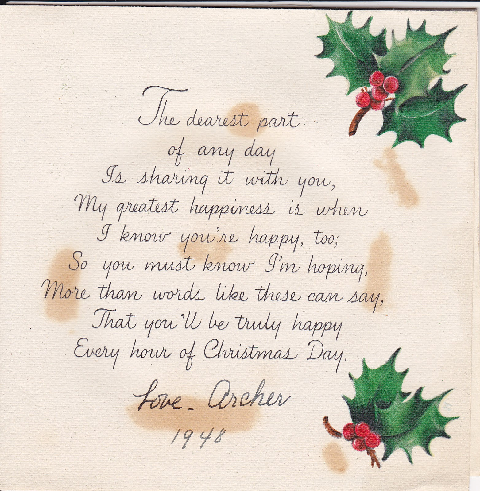 Quotes For Christmas Card  Madeline s Memories Vintage Christmas Cards