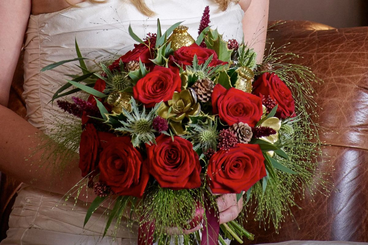 Red Christmas Flower Names  Christmas Wedding Flowers for The Festive Bride Interflora