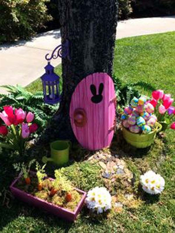 Religious Outdoor Christmas Decorations  29 Cool DIY Outdoor Easter Decorating Ideas