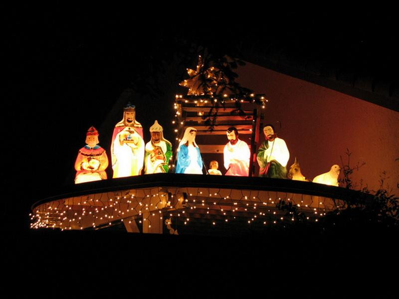 Religious Outdoor Christmas Decorations  Bloombety Nativity Outdoor Lighted Christmas Decorations