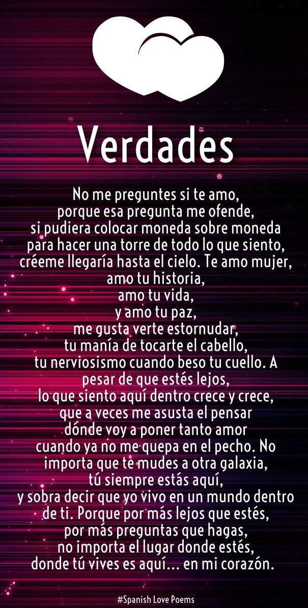Romantic Quotes In Spanish  Spanish Love Quotes and Poems for Him Her Hug2Love
