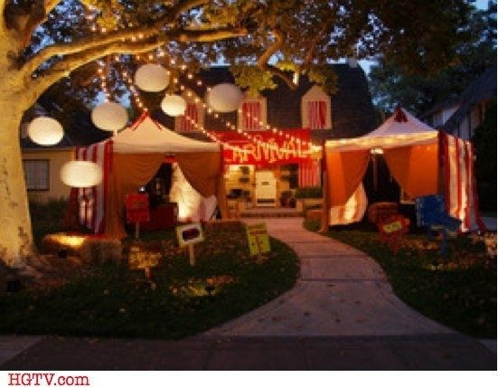 Scariest Halloween Party Ideas  Creepy Carnival Tents for an Outdoor Halloween Theme