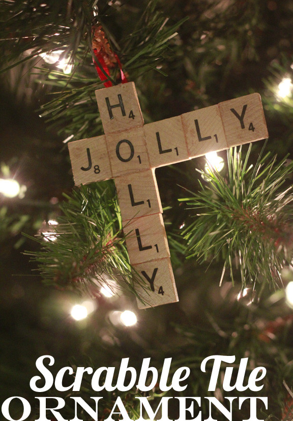 Scrabble Tile Christmas Ornaments  Scrabble Tile Ornament