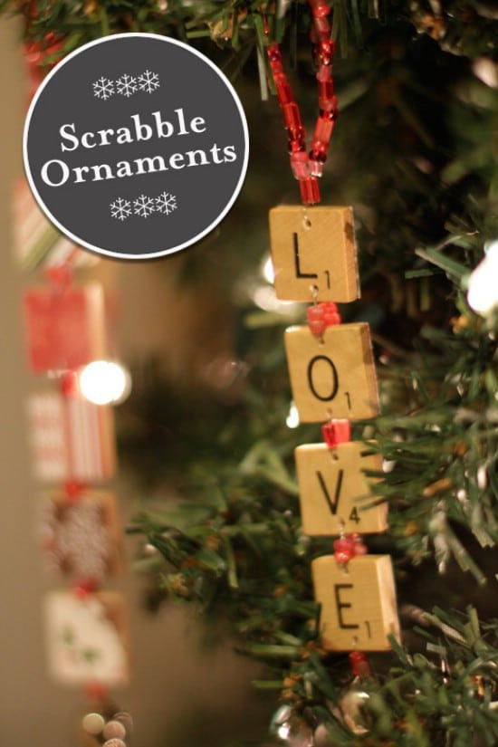Scrabble Tile Christmas Ornaments  15 Easy And Festive DIY Christmas Ornaments DIY & Crafts