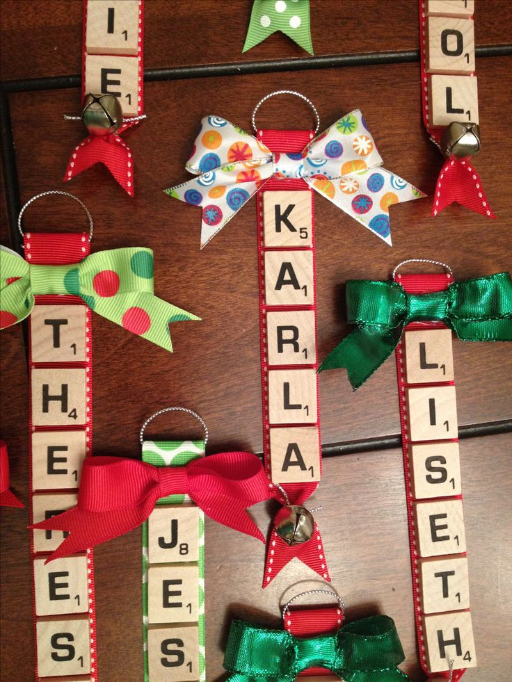 Scrabble Tile Christmas Ornaments  25 best ideas about Scrabble tile crafts on Pinterest