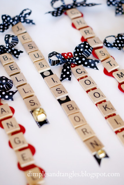 Scrabble Tile Christmas Ornaments  Dimples and Tangles SCRABBLE TILE ORNAMENTS