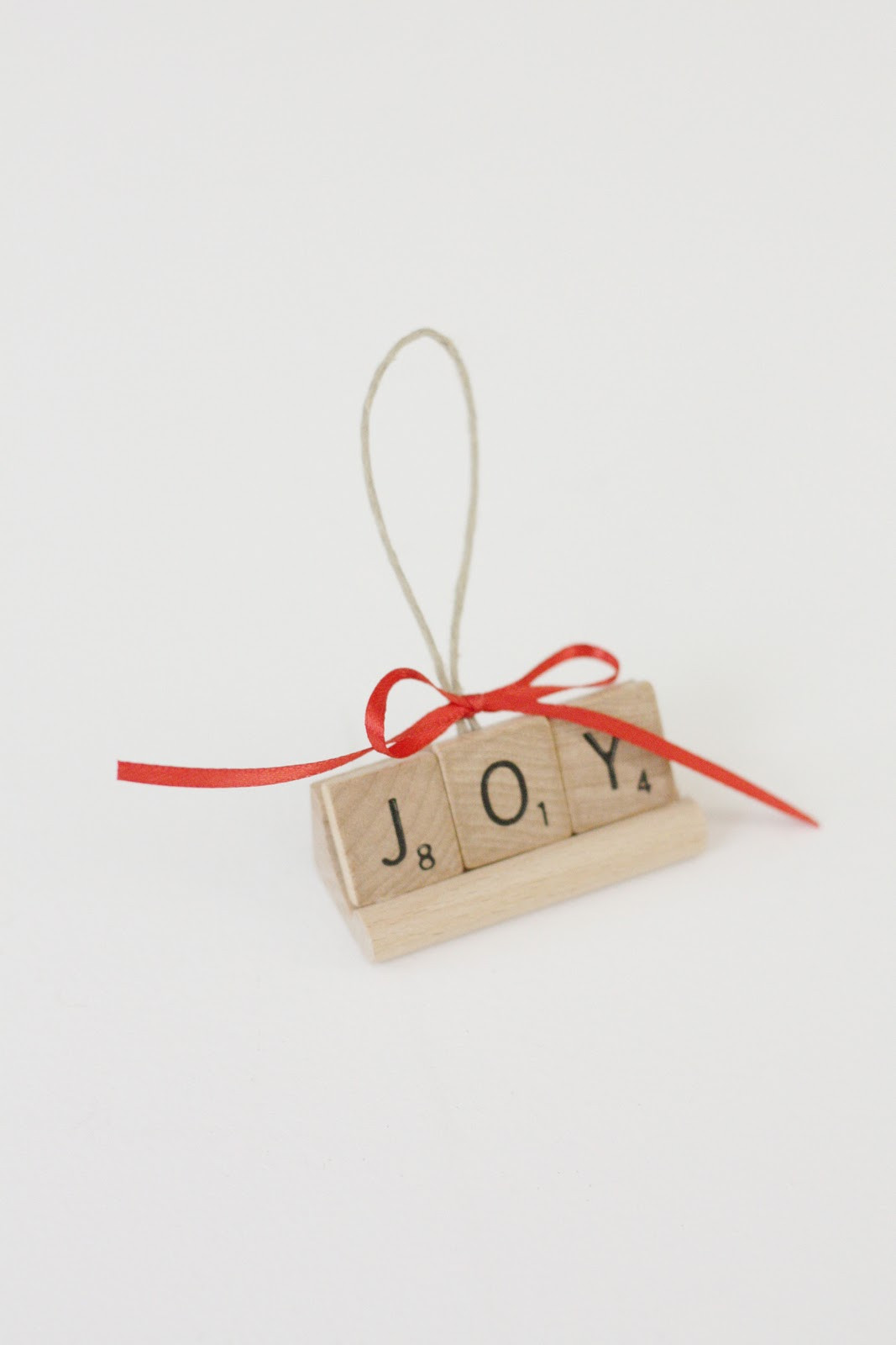 Scrabble Tile Christmas Ornaments  our daily obsessions Christmas scrabble ornament