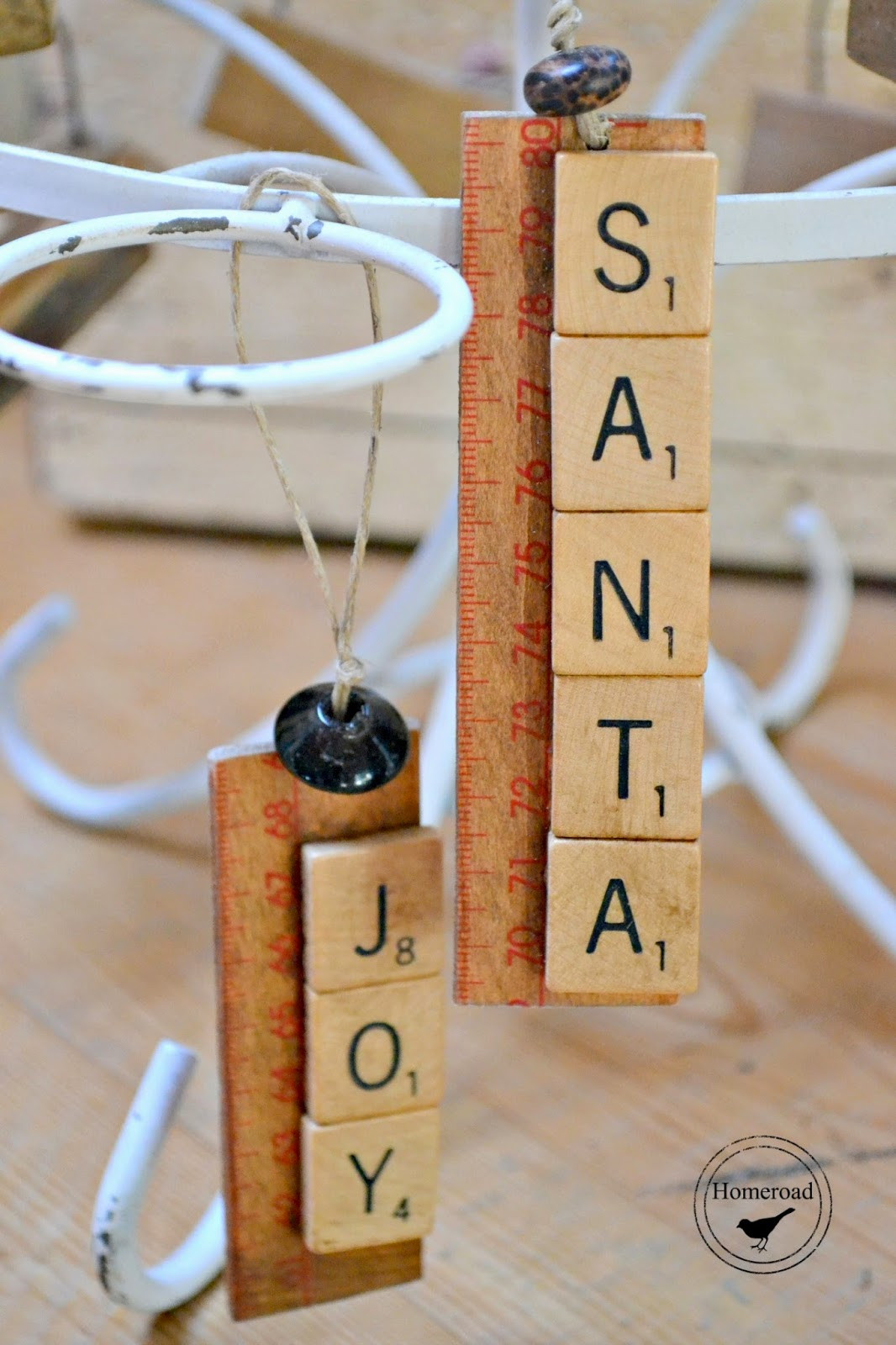 Scrabble Tile Christmas Ornaments  Scrabble Jenga Christmas Ornaments