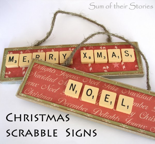 Scrabble Tile Christmas Ornaments  Scrabble Tile Christmas Ornament Sum of their Stories