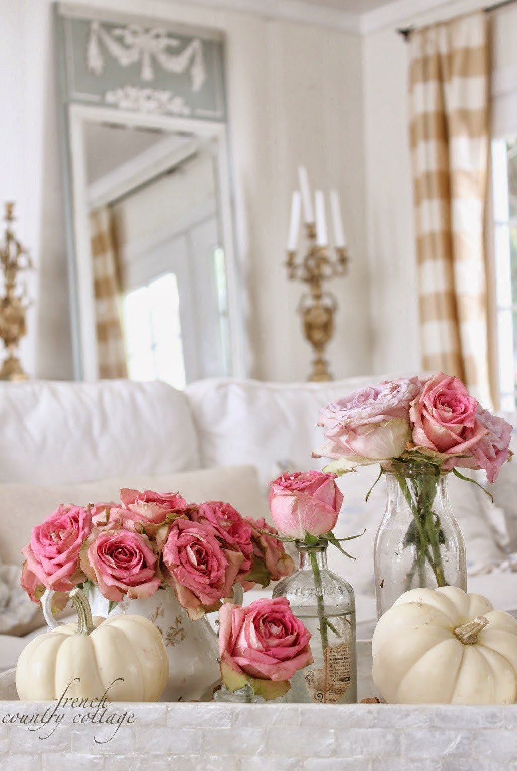 Shabby Chic Fall Decor  Feathered Nest Friday FRENCH COUNTRY COTTAGE
