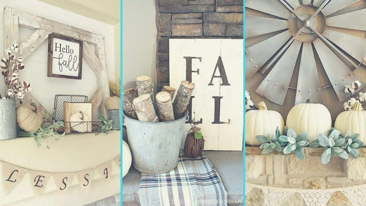 Shabby Chic Fall Decor  DIY Shabby chic style Fall Mantle decor Ideas