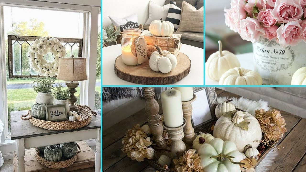Shabby Chic Fall Decor  DIY Shabby Chic Style Fall Coffee Table decor Ideas