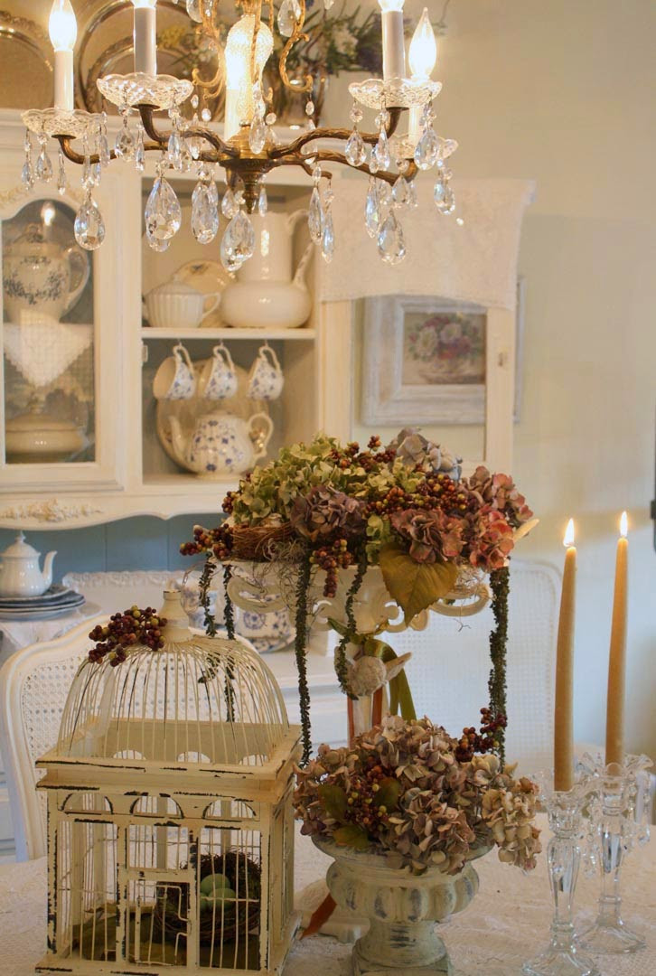 Shabby Chic Fall Decor  My Romantic Home Revisiting Autumns Past Show and Tell