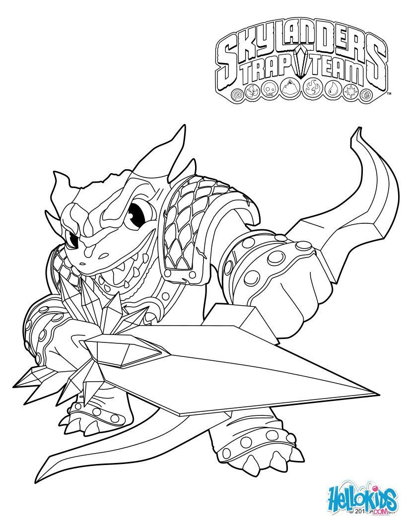 Skylander Boy And Girl Coloring Pages  Skylanders Trap Team coloring pages Snap Shot