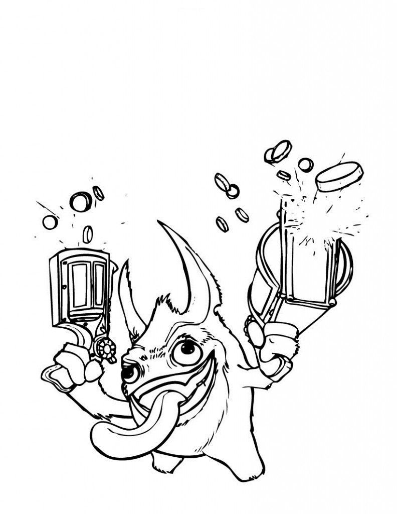 Skylander Boy And Girl Coloring Pages  Free Printable Skylander Giants Coloring Pages For Kids
