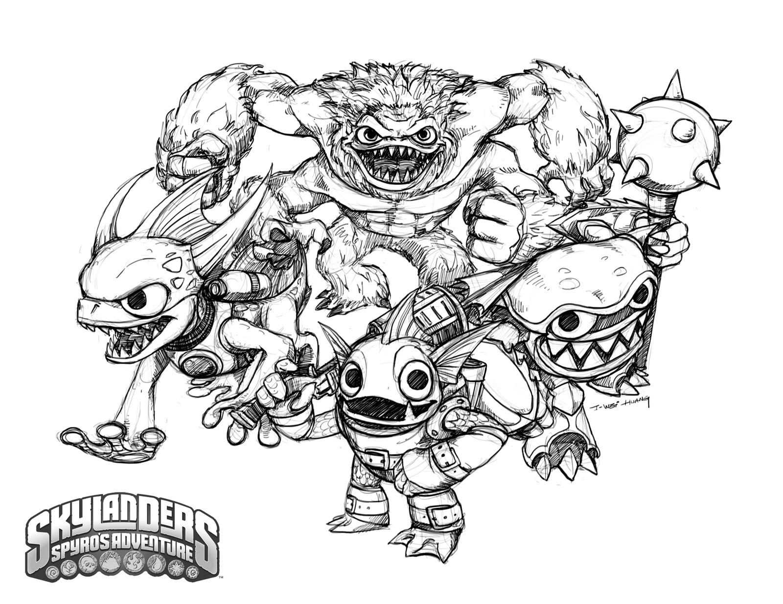 Skylander Boy And Girl Coloring Pages  Skylanders coloring pages for boys ColoringStar