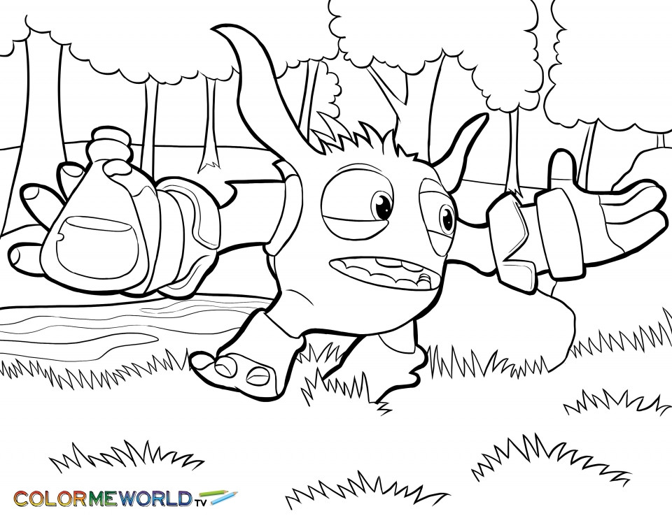 Skylander Boy And Girl Coloring Pages  Get This Free Printable Unicorn Coloring Pages for Adults