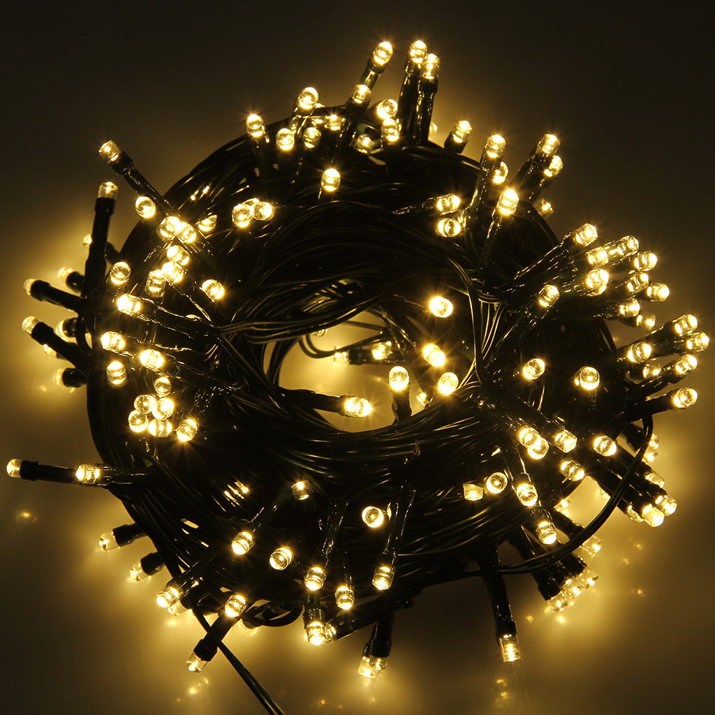 Solar Outdoor Christmas Lights  72ft 200 LED Solar Powered Fairy String Lights Christmas