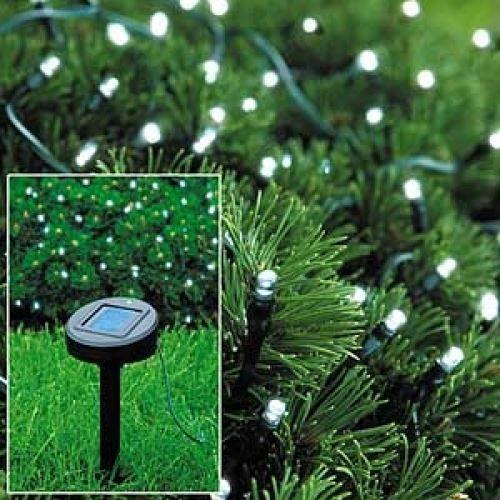 Solar Outdoor Christmas Lights  50 LED STRING LIGHTS SOLAR POWERED WHITE FAIRY LIGHTS