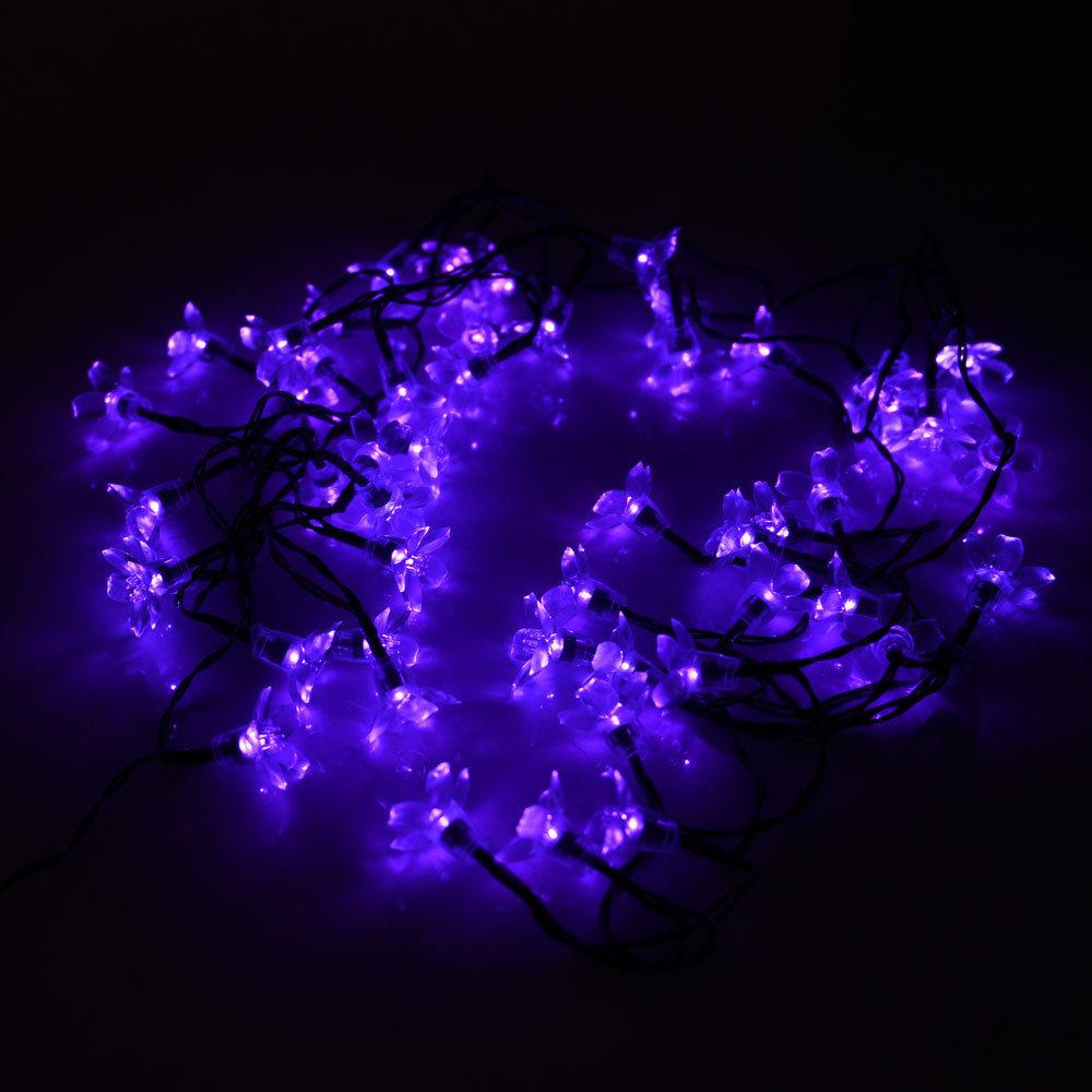 Solar Outdoor Christmas Lights  Solar flower shape String Lights Outdoor For Christmas