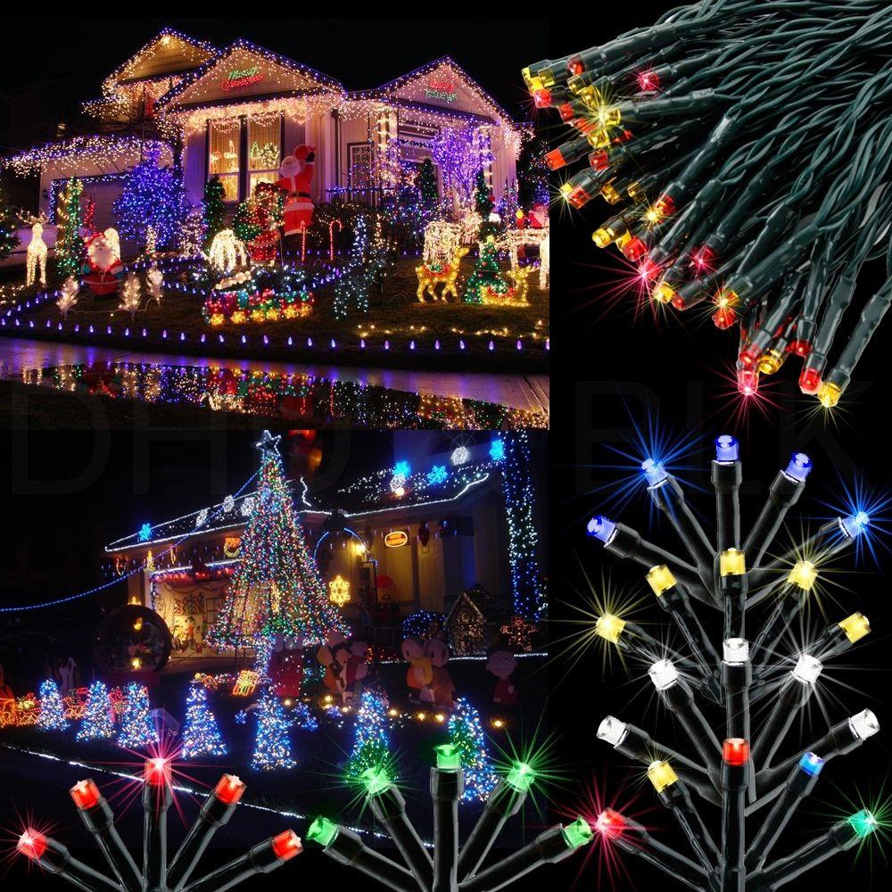 Solar Outdoor Christmas Lights  100 LED Solar Power Fairy Light String Lamp Party