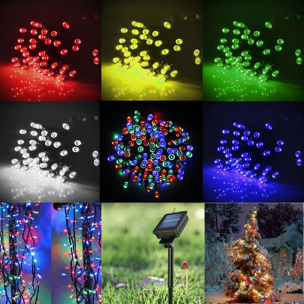 Solar Outdoor Christmas Lights  New 60 100 LED Solar Power String Fairy Light Garden Path