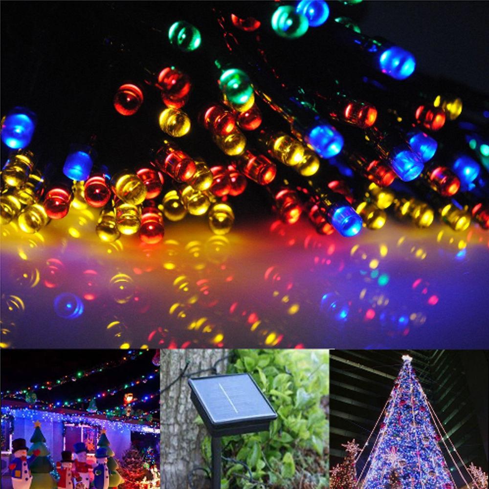 Solar Outdoor Christmas Lights  Solar Fairy String Lights 20M 100 LED 30M 200 LED