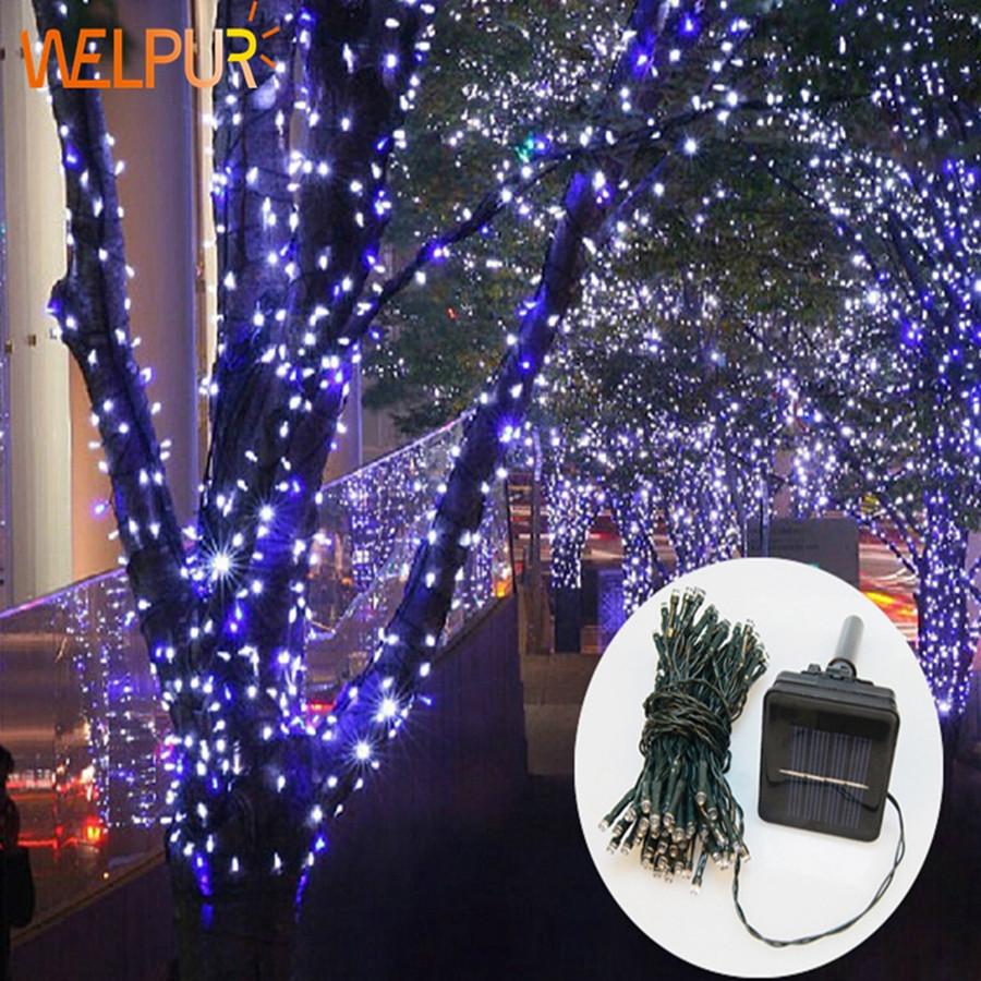 Solar Outdoor Christmas Lights  string light Lights Solar Garden Christmas Lights Holiday