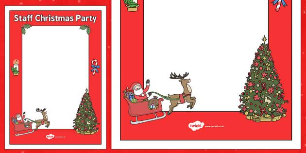 Staff Christmas Party Ideas  Staff Christmas Party Poster Template staff christmas party