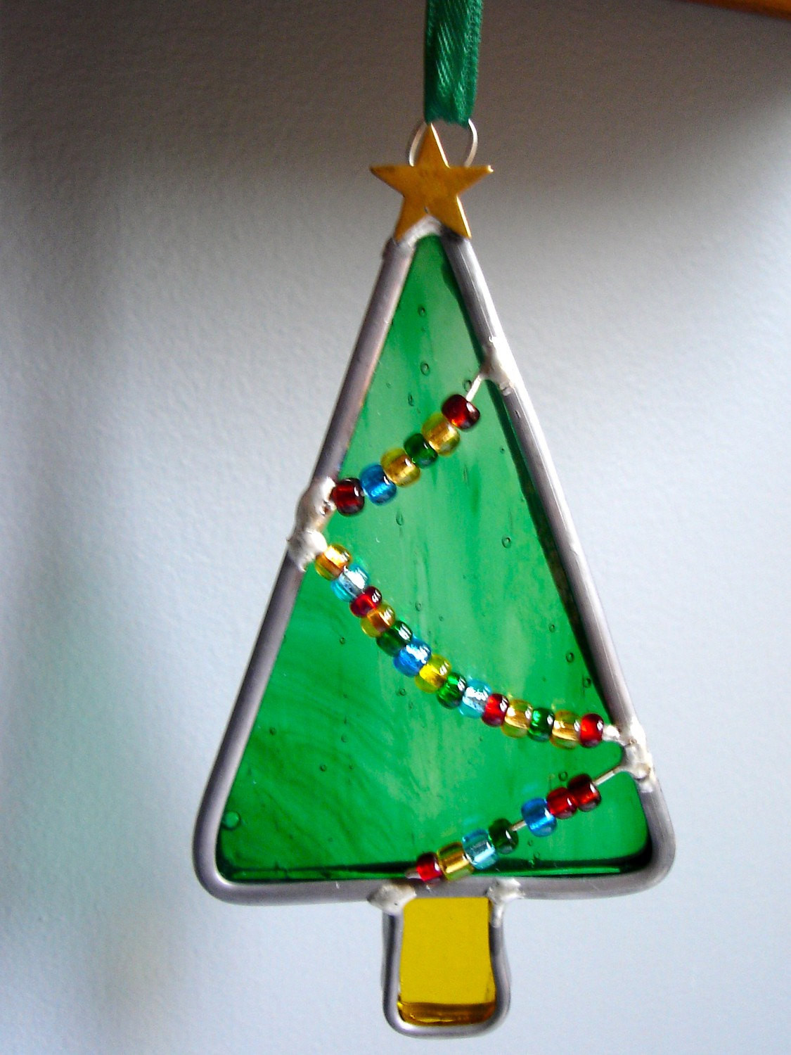 Stained Glass Christmas Tree Lamp  Little Christmas Tree in Stained Glass