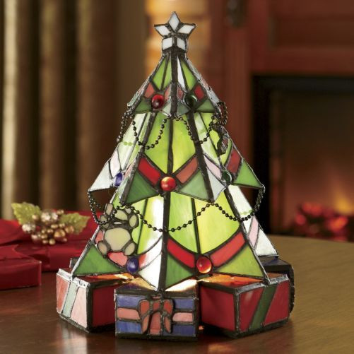 Stained Glass Christmas Tree Lamp  Stained Glass Christmas Tree Lamp from Seventh Avenue