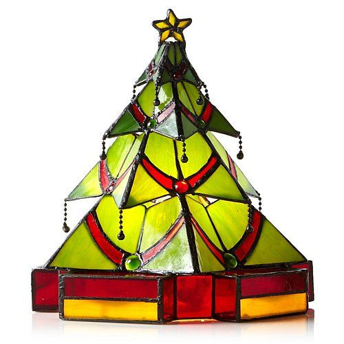Stained Glass Christmas Tree Lamp  8 best ideas about tiffany stained glass lamp on Pinterest