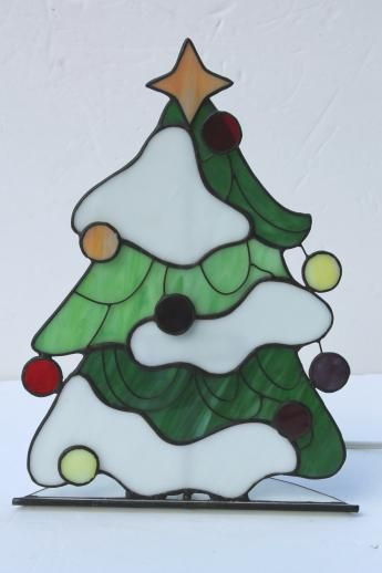Stained Glass Christmas Tree Lamp  25 best ideas about Stained Glass Christmas on Pinterest