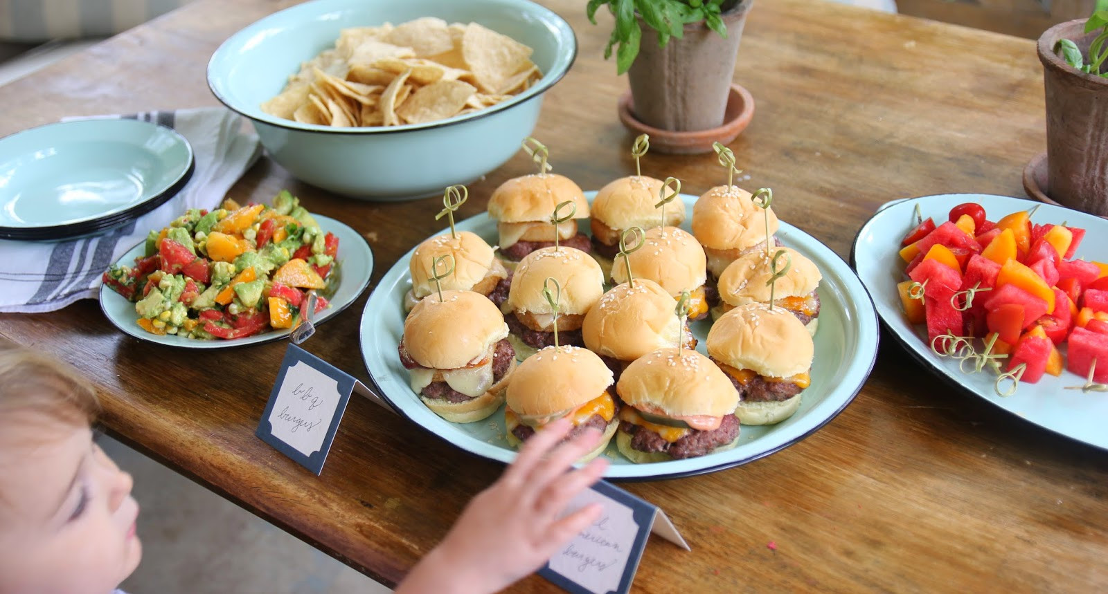 Summer Food Party Ideas  Jenny Steffens Hobick BBQ & ion Ring Sliders