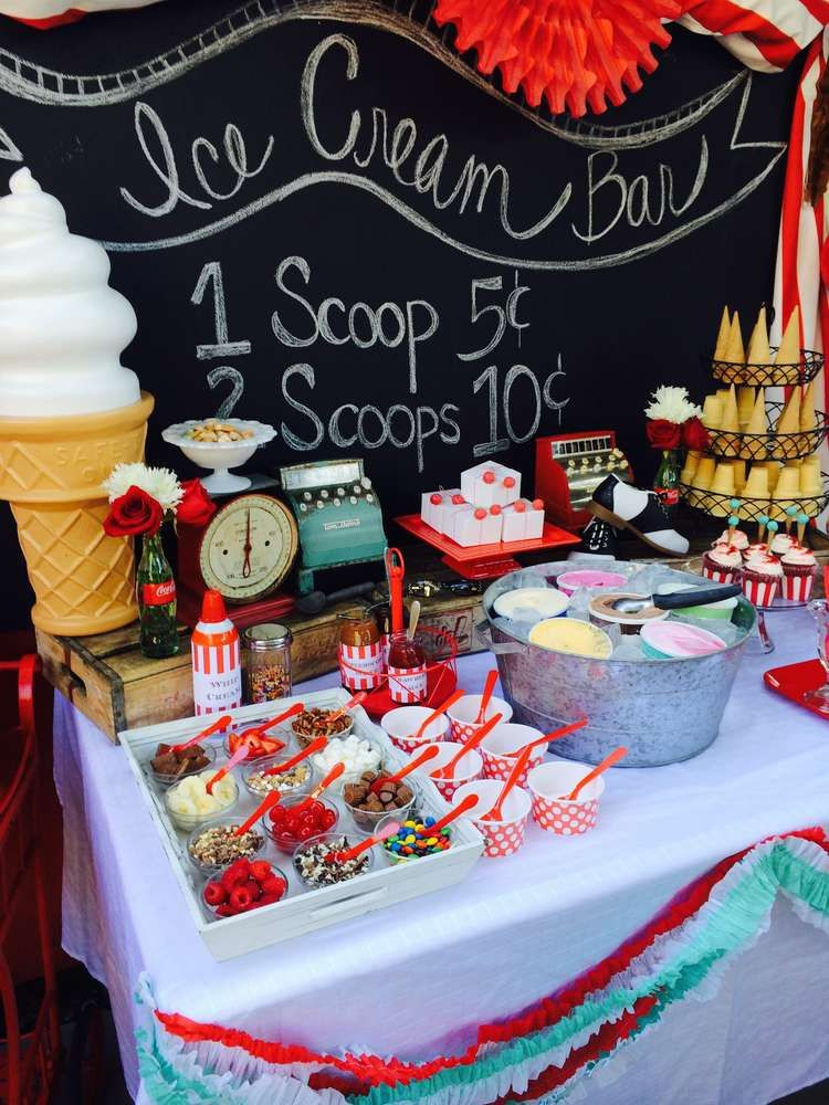 Summer Party Ideas For Teens  Ice Cream Summer Party See more party planning ideas at