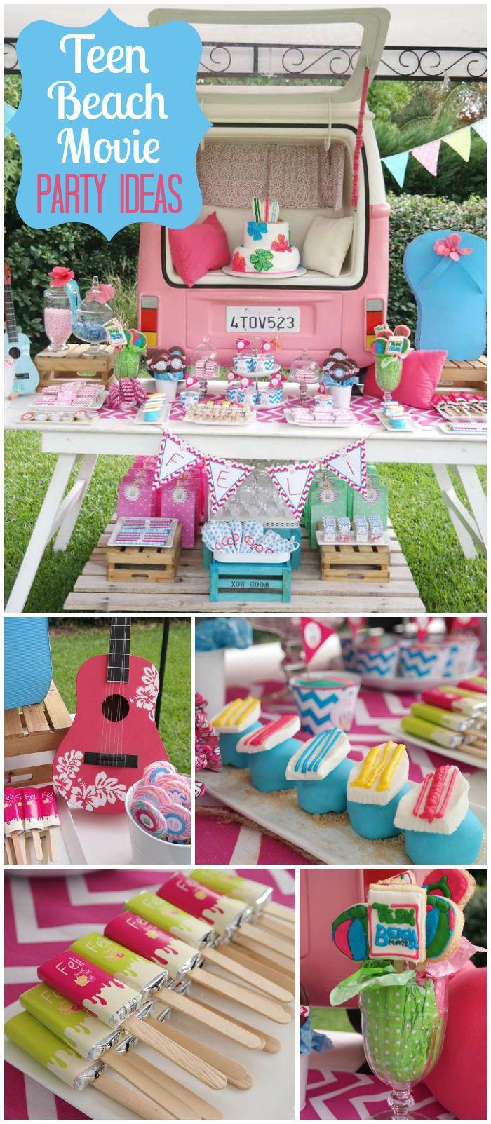 "Summer Party Ideas For Teens  Teen beach Movie Birthday ""Teen beach Movie party"""