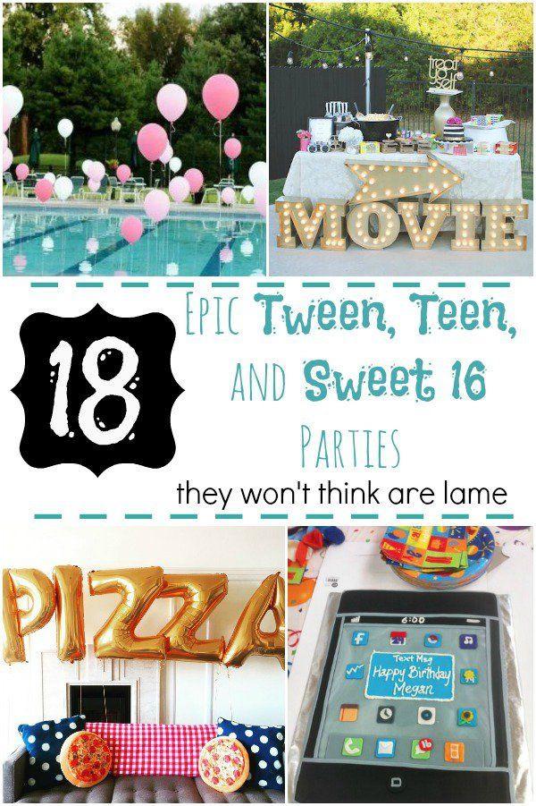 Summer Party Ideas For Teens  Best 25 Teen birthday parties ideas on Pinterest