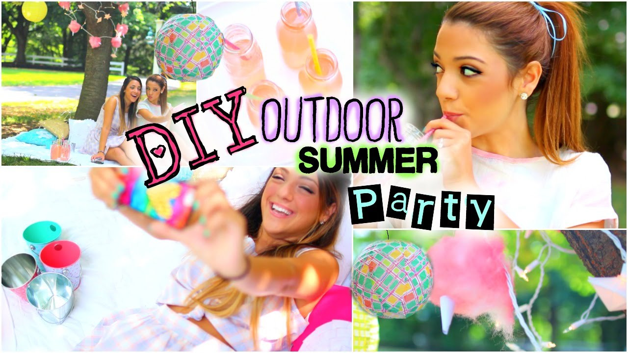 Summer Party Ideas For Teens  DIY Outdoor Retro Summer Party Treats Decor Outfits