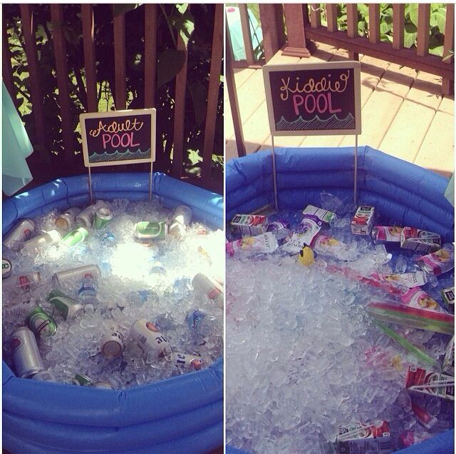 Summer Pool Party Ideas For Adults  Kid pool and adult pool for summer parties