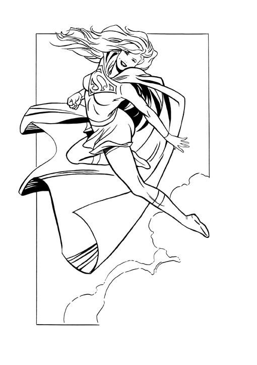 Supergirl Coloring Sheet  Supergirl inked by xleoninx on DeviantArt