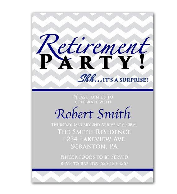 Surprise Retirement Party Ideas  Surprise Retirement Party Invitation Farewell by