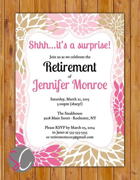 Surprise Retirement Party Ideas  Flowers Surprise Retirement Party Celebration by scadesigns