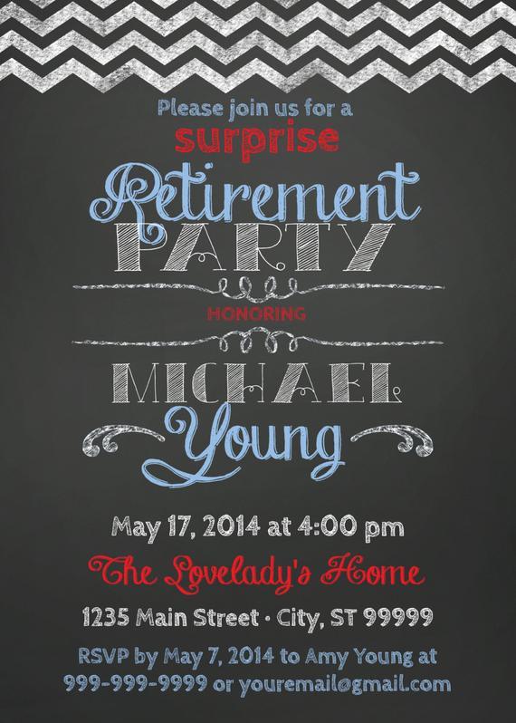 Surprise Retirement Party Ideas  SURPRISE Retirement Party Invitation
